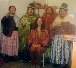 Me and the UMA (union mujer andina) weavers, El Alto, Bolivia, 2010
