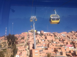 Yellow Line - Teleferrico, La Paz, Bolivia