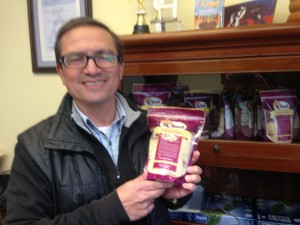 Quinoa Foods Co. with their own packaged retail bags of quinoa they hope to be soon be offereing export markets.